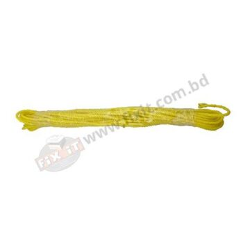 102 gm 0.20 Inch Yellow Color Polyester/Nylon Rope