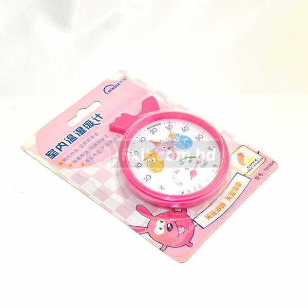 Pink Color Analog Temperature Meter Thermometer