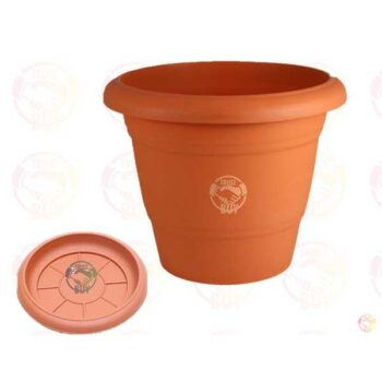 4 inch Plastic Eco Planter with tray for Tree