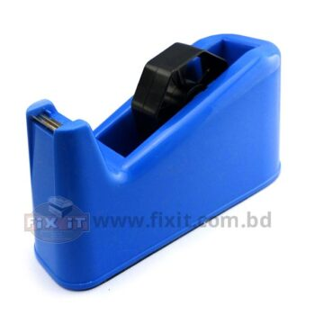 Blue Color Tape Dispenser for Clear Office Tape fro 4 Inch Tape with 1 Inch Thickness