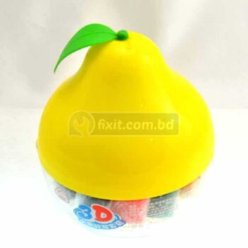 Peach Shaped Plastic Box Yellow Color Kiddy Clay