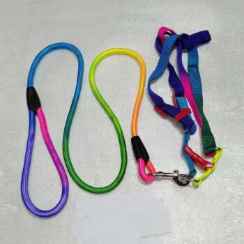 5 Feet Thick Multi Color Dog Belt with Chest