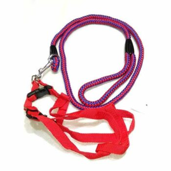 Red and  black Color Dog belt with Chest