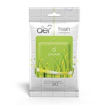 10g Fresh Lush Green Favor Pocket Bathroom Fragrance Godrej Aer Brand