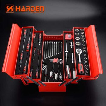 21.5 Inch Steel Tool Box with 77Pcs Accessories Harden Brand (5 Tray)