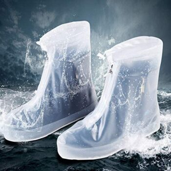 Waterproof Boot Covers Reusable With Zipper Silicone Shoe Covers Women Waterproof For Rain Shoe Protectors Covers Reusable Washable Boot Covers Men Waterproof Slogger Rain And Garden Shoe Covers