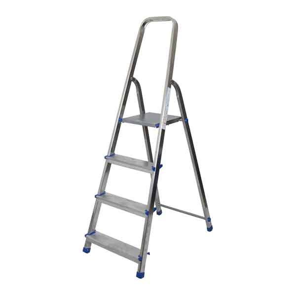 4 Step One Side Aluminium Ladder HMBR Brand