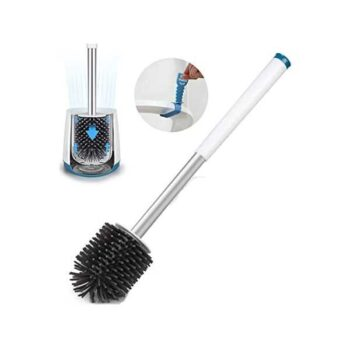 Toilet Commode Brush & Standing Bathroom Cleaning Tool with Holder