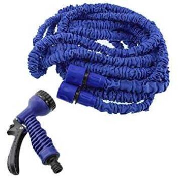 150FT Retractable Expandable Flexible Magic Hose Pipe For Water Watering Garden Hose With Valve+ Spray