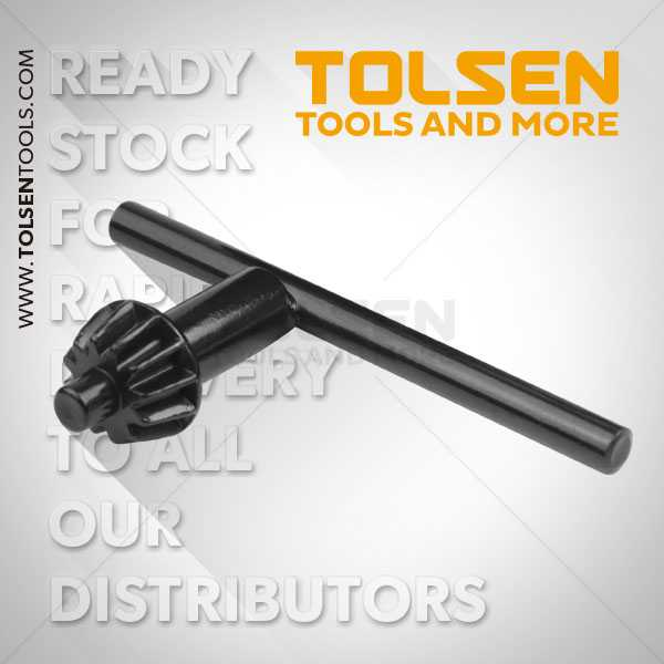 10mm Chuck Key Tolsen Brand for Use with Drill Machine Chucks 79180