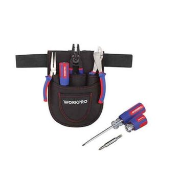 7 PCS Electrician's Tool Set With Pouch Workpro Brand W004161