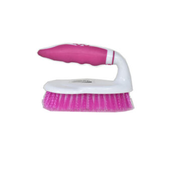 Pink and White Color Smart Cloth Brush with Plastic handle