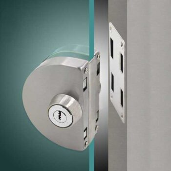 Glass Door Lock Stainless Steel Brushed Single Brushed