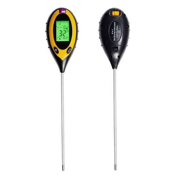 4-in-1 Soil pH Meter with Moisture