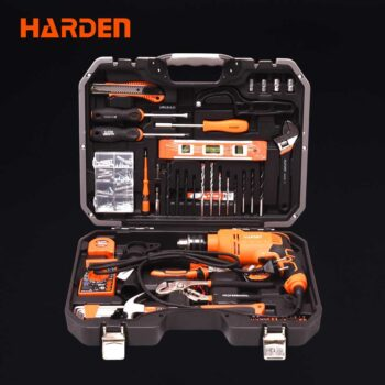 550W 3000rpm Electric Impact Drill Machine with 75pcs Accessories Harden Brand 510875