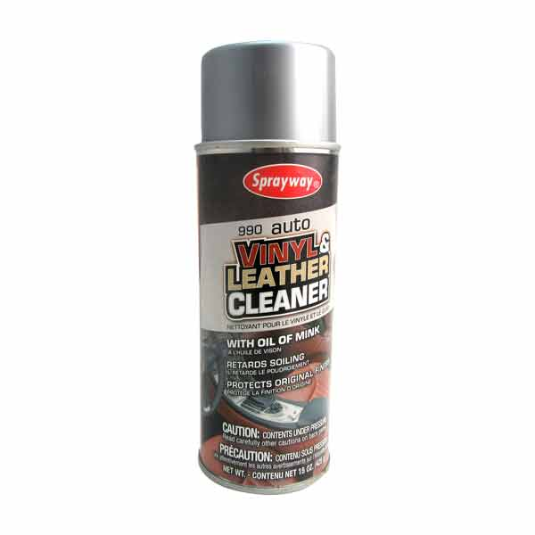 425g Vinyl & Leather Cleaner (with Oil of Mink) Sprayway Brand