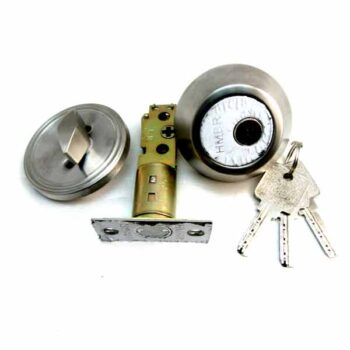 One side key and one side knob Durable and High Security Deadbolt Lock HMBR Brand