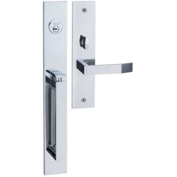 High Security Stainless Steel Elegance Style 2 Entrance Door Handle Lock Yale Brand M8773 D3 M8773 D3 CP