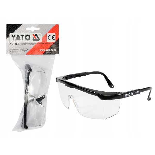 White Color Safety Goggle Glass Yato Brand YT-7361