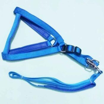Medium Size Solid Color Nylon Dog Harness with Leash