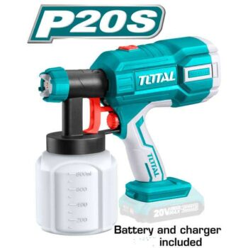 20V Cordless Spray Gun Total Brand TSGLI2001 (With Battery & Charger)