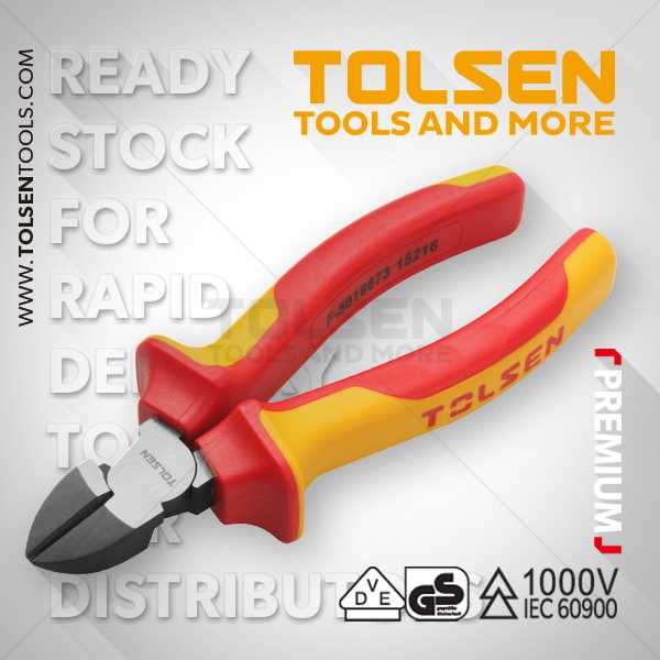 1000V 7 Inch VDE Insulated Diagonal Cutting Pliers Tolsen Brand V38127