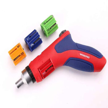 24-IN-1 Multifunction Pistol Auto-Loading Ratcheting Screwdriver Home Repair Tool Workpro Brand W021176