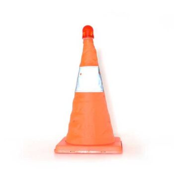 68cm Reflective Traffic Cone with LED Flashing Light for Road Warning Sign