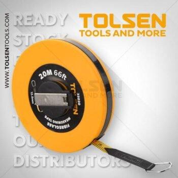 50M/165ft x 12.5mm Fibreglass Measuring Tape Tolsen Brand 35023