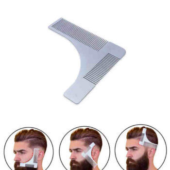 Stainless Steel Beard Shaping Tool Beard Modeling Template Carding Tool Beard Comb for Men's Shaving shape your bread to perfection