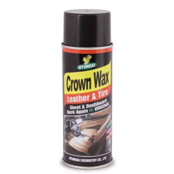 Crown Wax Polish Wax Spray for Leather Seat/Plastic/Rubber/Tires/Car/Bike/Others