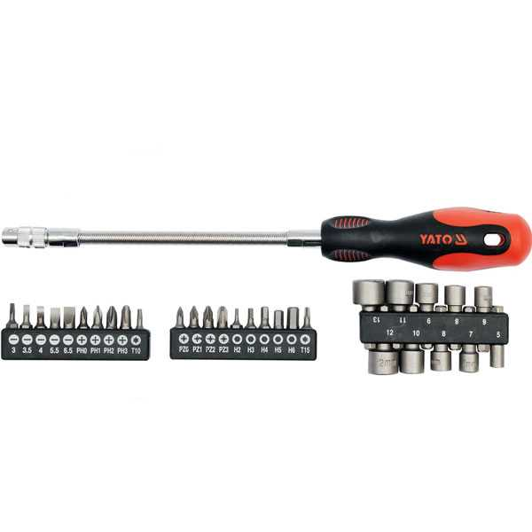 31Pcs Industrial Flexible Screwdriver With Bits Set Yato Brand Yt-2780