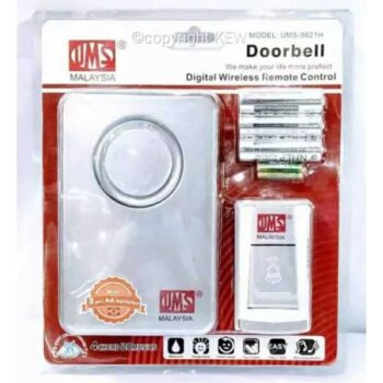 Silver Color Digital Wireless Remote Control Door bell Malaysia Brand Easy Installation with 3pcs AA Batteries