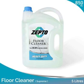 Floor Cleaner Heavy Duty 5L Jasmine Scented Zepto Brand with Heavy Disinfectant Action (Supreme)