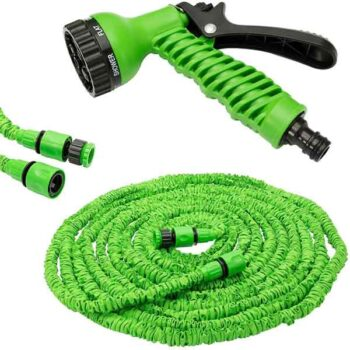 50FT Retractable Expandable Flexible Magic Hose Pipe For Water Watering Garden Hose With Valve+ Spray