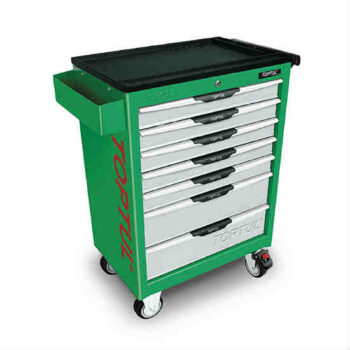 Green Color 7-Drawer Mobile Tool Trolley Toptul Brand