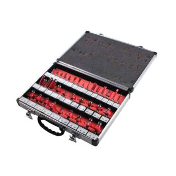 35PCS 8mm Shank Tungsten Carbide Router Bit Set Wood Woodworking Cutter Trimming Knife Forming Milling Carving Cutting Tools