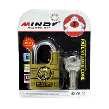 50mm Golden Color Portable Patent Lock Security Padlock with Keys - fixit