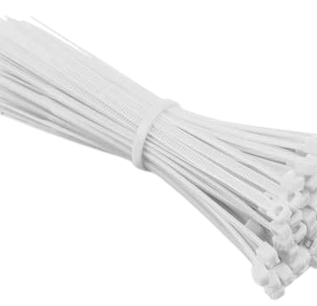 14 Inch 100 Pcs White Color Cable Tie For Holding Cable & Wires in BD